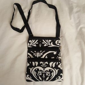 Black and white small crossbody purse
